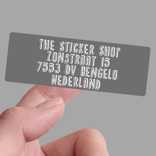 Watervaste adres sticker