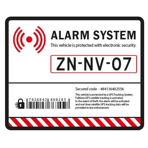Auto Alarm Sticker