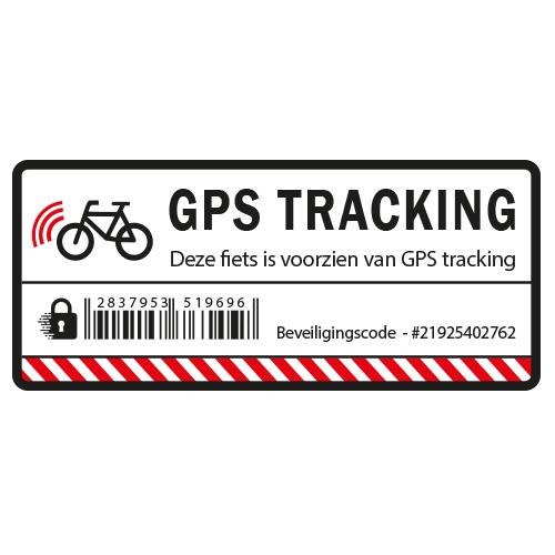 Fiets GPS Tracking sticker