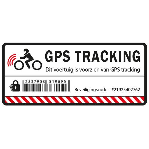 Motor GPS Tracking sticker