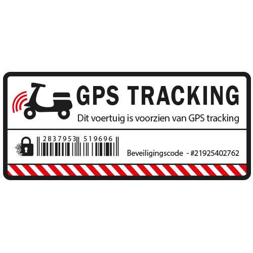Scooter GPS Tracking sticker