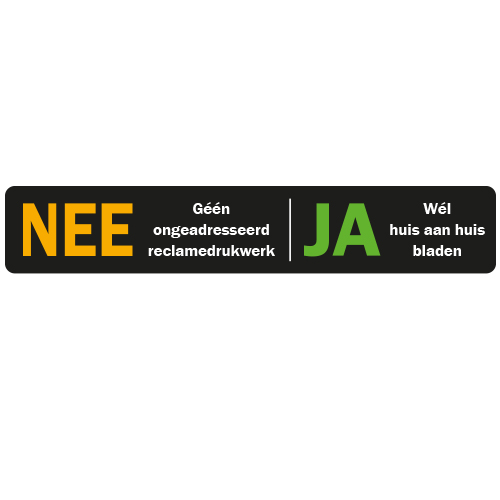 Nee Ja Sticker Brievenbus 1 Gratis