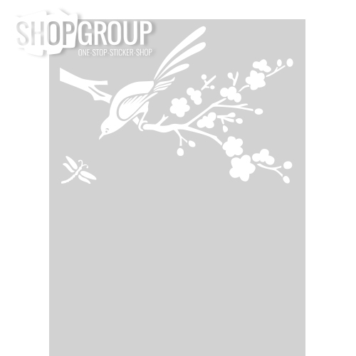 Raamfolie met vogeltak