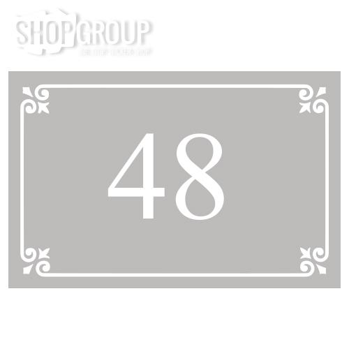 Glasfolie voordeur huisnummer