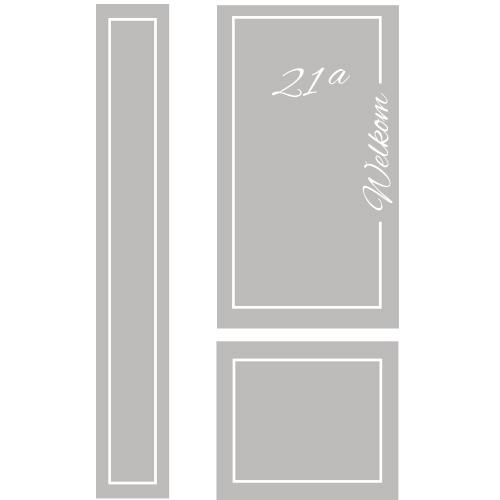 Raamfolie deur met naam en huisnummer