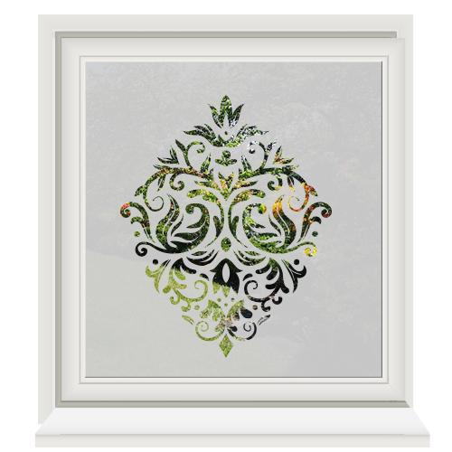 Glasfolie met ornament