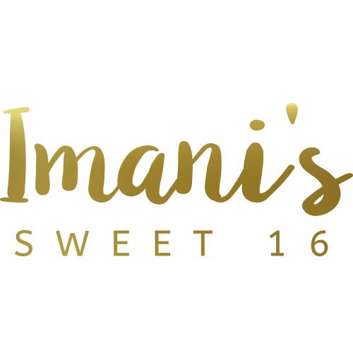 Verjaardag sticker sweet 16