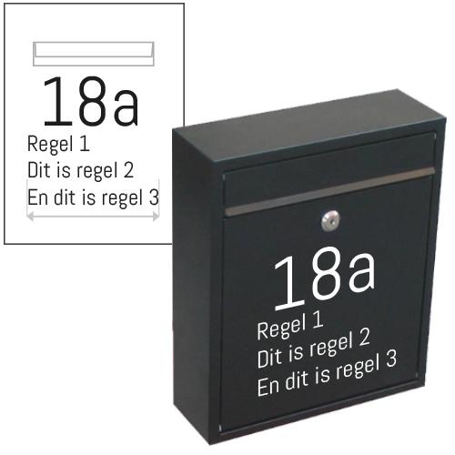 Naam en huisnummer stickers