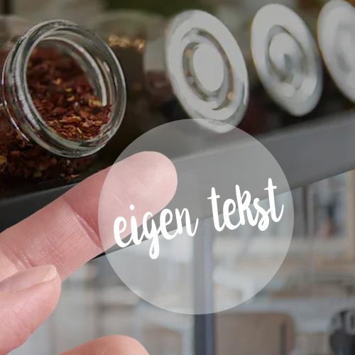 Stickers transparant verschillende teksten