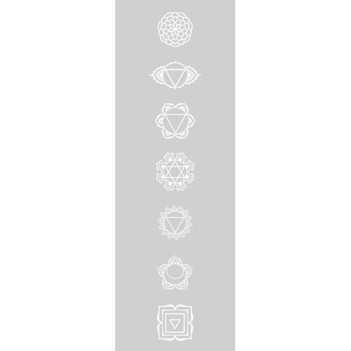 Raamfolie Chakra symbolen Spiritualiteit