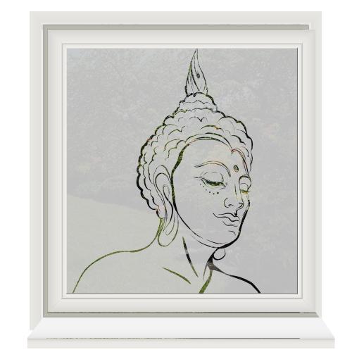Buddha Zelfklevende raamfolie