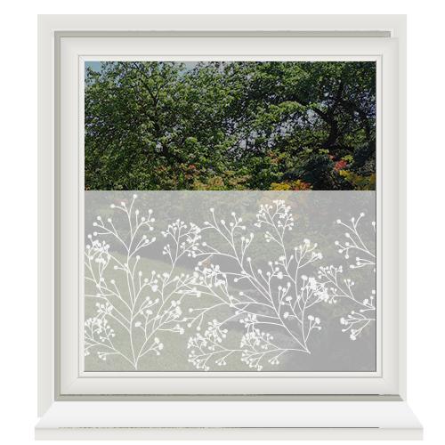 Zelfklevende raamfolie met bloesem print