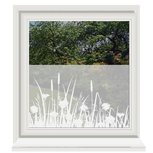 Zelfklevende raamfolie met planten print