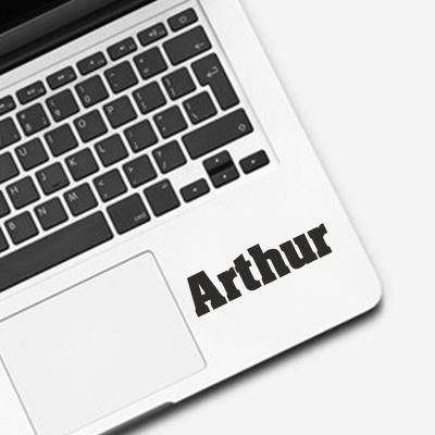 Laptop sticker met naam