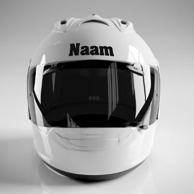 Helm sticker met naam