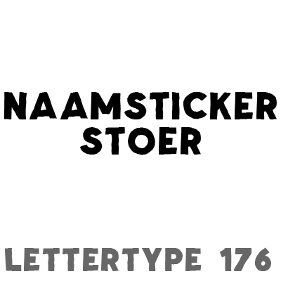 Naam sticker stoer