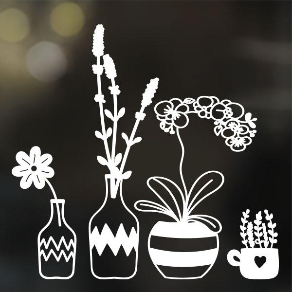 Raamtekening planten