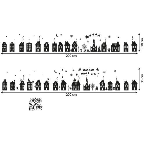 Herbruikbare huisjes stickers xxl 200 cm