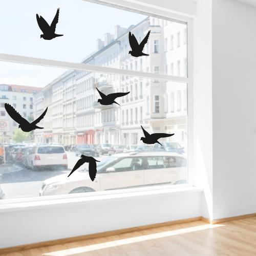 Herbruikbare stickers vogels