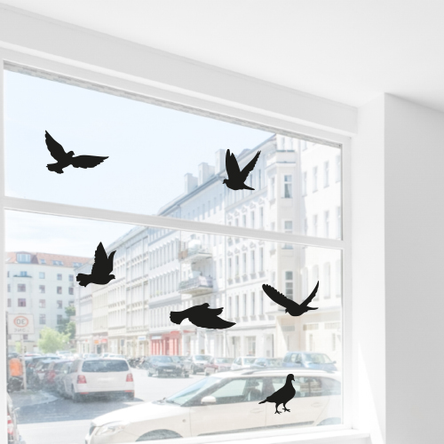 Vogel glasstickers