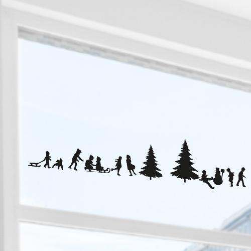 Decoratie kerst sticker vel