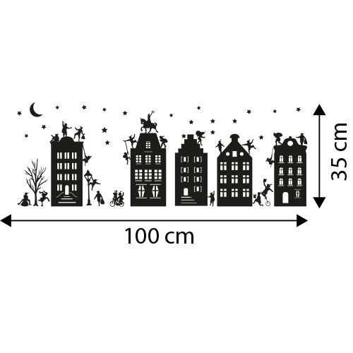 Herbruikbare sinterklaas huisjes stickers