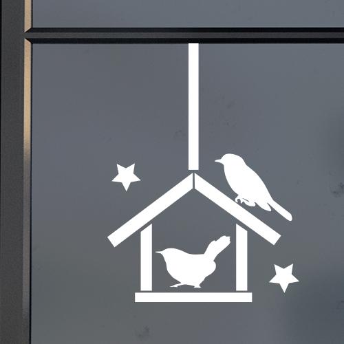 Raamsticker vogelhuis