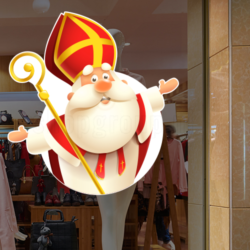 Sinterklaas sticker herbruikbaar